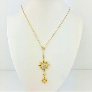 Vince Camuto  Slider Lariat Goldtone Star Necklace